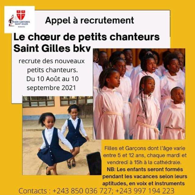 chœur Saint Gilles de Bukavu